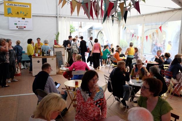 Café des lecteurs, Festival de Chambéry, La Bibliothèque italienne.JPG